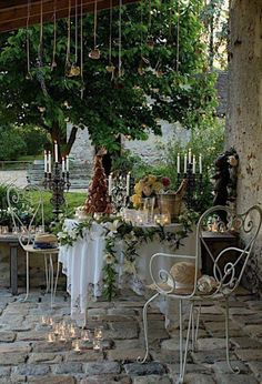 Romantisch zitje op het terras