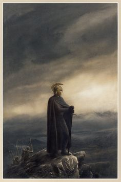 Cover Art for Tolkien's The Children of Hurin by Alan Lee  *sob* why does it have to be such a tragic tale!