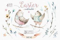 Happy easter watercolor kit III By Peace_Shop