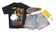 """""""anything for selenas"""" by chanelandcoke ❤ liked on Polyvore featuring Levi's and Vans"""