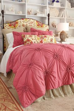 ignore the frou frou pink coverlet - I want the wall behind the bed