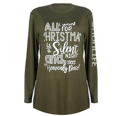 f4a9c4c2ae246 Long Sleeve Merry Christmas Pullover Loose Casual Women T-Shirt