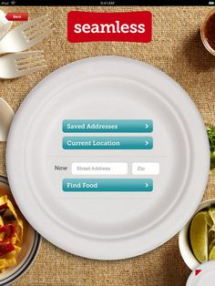 Seamless Food Delivery and Takeout for iPad