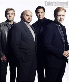 """Cast Reunions """"NYPD Blue"""" television show - Ricky Schroder, Dennis Franz, Jimmy Smits, and David Caruso David Caruso, Detective, Dennis Franz, Cops Tv Show, Jimmy Smits, Ricky Schroder, Nypd Blue, Bogart And Bacall, Tough Guy"""