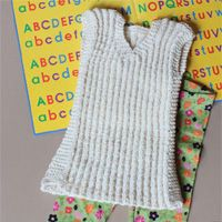 Playtime pullover |- kid's sweater dress knitting pattern