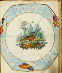 This beautiful image from the Spode Museum Trust pattern books is pattern number 1979 dating from around 1814. So on trend today! lovin it....