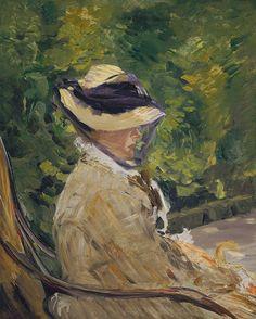 Édouard Manet: Madame Manet (née Suzanne Leenhoff, 1830–1906) at Bellevue (1997.391.4) | Heilbrunn Timeline of Art History | The Metropolita...