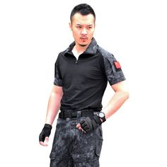 Men Summer Army Combat Tactical T Shirt Military Short Sleeve Top T-Shirts  Clothes CP ACU Multicamo New Arrival
