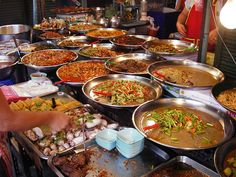 Bangkok Thailand the EpiCenter of Street Vendor Foods just look at the array of colors..a MUST on my travel destinations bucket list one day