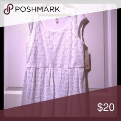 🆕White eyelet dress beautiful Size S/M fit Lacey new with tags Dresses High Low
