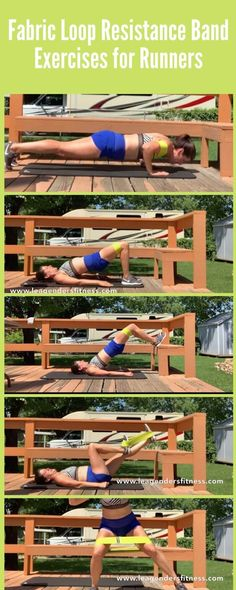 Fabric loop resistance band exercises for runners. Save to Pinterest for later or to help me share! Strength Training For Runners, Strength Workout, Fit Board Workouts, At Home Workouts, Bridge Workout, Running Day, Extreme Workouts, Resistance Band Exercises, Group Fitness