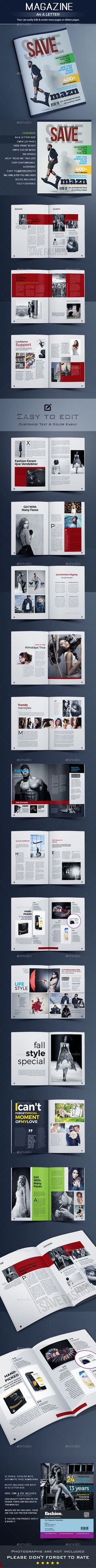 Magazine by artlab99 Magazine TemplateThis Magazine Template can be used for any business purpose or other Projects. image input are super easy to Cust