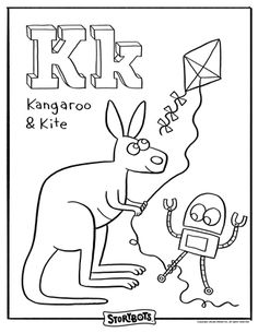 I Love These StoryBot Free Coloring Pages K Is The KEY To Words Like