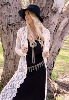 Boho lace + edgy black + gypsy style. Gypsy Lovin Light.