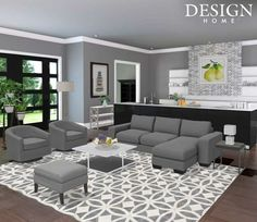 Shades of white Design Home App, House Design, Outdoor Furniture Sets, Outdoor Decor, Shades Of White, Small Living Rooms, Grey Walls, Room Colors, My Room
