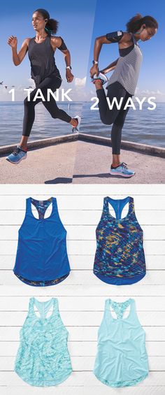 Switch up your style in seconds flat in the Reversible Move Tank. This high-intensity workout top is built with lightweight performance fabric for ultimate breathability. Workout Wear, Workout Tops, Workout Shirts, Cool Outfits, Summer Outfits, Gym Outfits, My Unique Style, My Style, Fitness Fashion