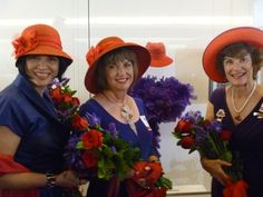 Our CEO & Queen Lady Bug, Debra Granich; our Exahlted Queen Mother, Sue Ellen Cooper; and our Esteemed Vice Mother viewing the fedora in the Smithsonian