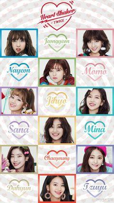 Twice kpop Wallpaper sana Jihyo chaeyoung Jungyeon Nayeon Momo mina tzuyu  Dahyun Hearth shaker