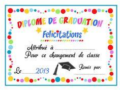 Diplome a colour French Lessons, Certificate, Graduation, Frame, Cards, Dire, Recherche Google, Printer, Decor