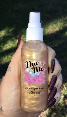 "Bronze Rose water makeup setting spray for a hint of illuminated shimmer use code ""GLOWBABE"" for 10% off yours at www.glowcult.com"