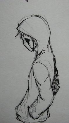 Creepy Drawings, Dark Art Drawings, Creepy Art, Pencil Art Drawings, Art Drawings Sketches, Sketch Drawing, Pencil Sketching, Drawing Faces, Drawing Ideas