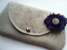 Made to Order - Clutch - Clutches - Bridsmaid clutch - Bridesmaid gift - Linen Clutch - Boutique. $23.00, via Etsy.