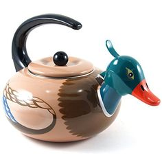 Supreme Housewares Stainless Steel Mallard Duck Whistling Tea Kettle