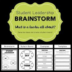Student Leadership- Brainstorm Activity