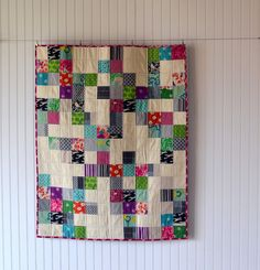 I really like this... I might make a scrap quilt like this
