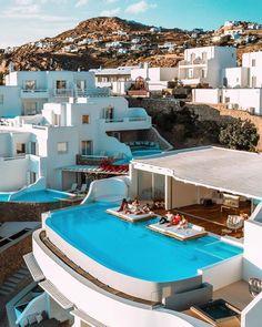 "Cavo Tagoo Mykonos on Instagram: ""Diamond Villa 💎 📸 @jeremyaustiin"" Cavo Tagoo Mykonos, Cool Pools, Pool Designs, All Over The World, Swimming Pools, Villa, Spa, Adventure, Mansions"