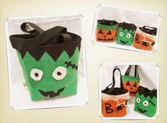 Sac à bonbons Halloween, seau à friandises, sac citrouille, accessoires costume enfants, sac toile de jute coloré de la boutique mlfabric sur Etsy