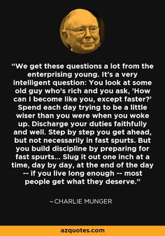 Warren Buffet Quotes, Quotations, Qoutes, Charlie Munger, Quotes To Live By, Life Quotes, Financial Quotes, Investment Quotes, Warren Buffett