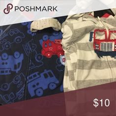 Fire Truck footed fleece PJs Too cute! Fire trucks! GUC Carter's Pajamas Pajama Sets