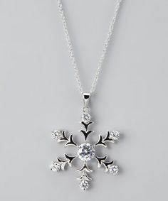Take a look at this Silver Snowflake Pendant by J. Goodin on #zulily today!