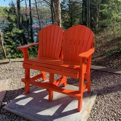 Neil Farris of Kentucky modified my Bar Chair plans into a tall loveseat. Great idea Neil ! Adirondack Chair Plans, Adirondack Furniture, My Bar, Bar Chairs, Furniture Plans, Kentucky, Color Schemes, Love Seat, Woodworking