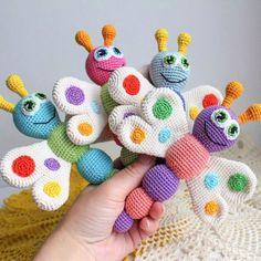 Amigurumi butterfly rattle - Free crochet pattern on Amigurumi Today