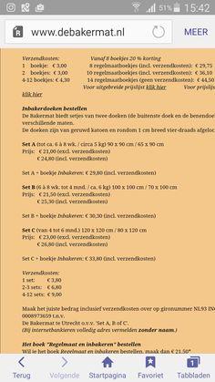 Bakerdoeken bestellen www.debakermat.nl