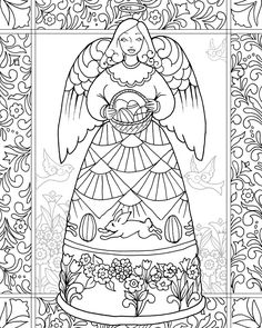 Jim Shore 'Easter Blessings Angel' from the Angel Coloring Book (July 2016)