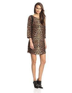 Alice & Trixie Women's Haven Silk Leopard Shift Dress, Caramel, Small Alice & Trixie http://www.amazon.com/dp/B00KOVQLT4/ref=cm_sw_r_pi_dp_l9n5ub11BYGEE