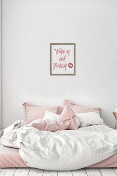Wake Up and Makeup Framed Silkscreen Glass Wall Art by PTM Images on @nordstrom_rack