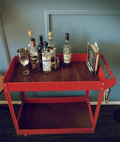 Cheap, Easy DIY Project: Stylish, Modern Bar Cart Hack for Under $40 — Primer Magazine - Apartment Therapy Main