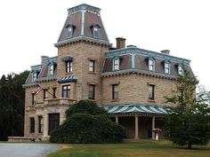 Chateau-sur-Mer is the first of the grand Bellevue Avenue mansions of the Gilded Age in Newport, Rhode Island, completed in 1852 for William Shepard Wetmore, a merchant in the China trade. Mr. Wetmore died in 1862, leaving the bulk of his fortune to his son, George Peabody Wetmore. George married Edith Keteltas in 1869. During the 1870s, the Wetmores departed on an extended trip to Europe, leaving architect Richard Morris Hunt to remodel & redecorate the house in the Second Empire style.