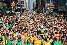 Público na Sexta Avenida (Foto: Globo/ Luiz C. Ribeiro)