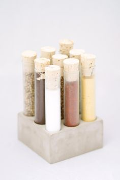 Concrete Spice Set | Concrete product design | Cement | design | Beton design | Betonlook | www.eurocol.com