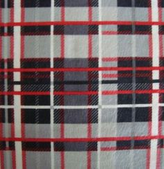 Snuggle Flannel Fabric- Plaid Red & White, , hi-res