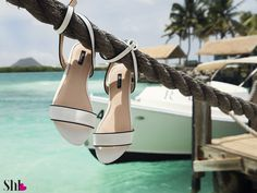 white sandals - summer collection 2017. Perfect for cruising in Aruba Island :)