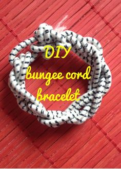 I am off work this week, so instead of outfit posts, I am bringing you some DIY/project ideas that even someone with my extre. Adult Crafts, Diy Crafts, Jewelry Crafts, Jewelry Ideas, Do It Yourself Jewelry, Bungee Cord, Cord Bracelets, Happy Tuesday, Couture