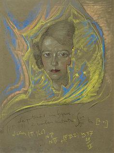 Stanisław Ignacy Witkiewicz | Portrait of a lady (Z.Zarnowiecka),1937 ...