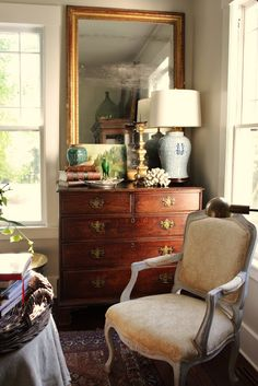 for the love of a house: the reading room- Paint color BM Ashwood...Love.