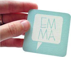 cute business card- tarjeta cuadrada